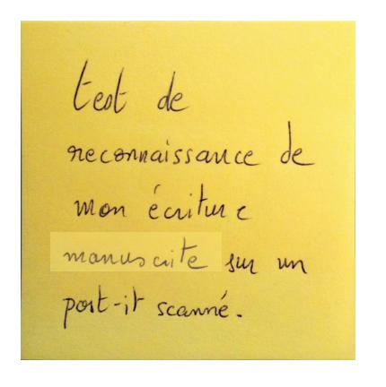 post it scanné