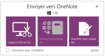Envoyer vers OneNote1